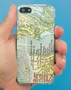 Create a unique iPhone case with a paper map. Accounts to Follow | @Mashable http://www.levo.com/articles/lifestyle/best-pinterest-boards-to-follow