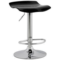Wave Bar Stool-bar stool-Black-Modern, Contemporary Designer Bar Stools, chairs-Metal, Solid Wood, High or small. Designer Bar Stools, Solid Wood, Metal Solid, Metal Chairs, Bar Furniture, Modern Contemporary, Wave, Home Decor, Black