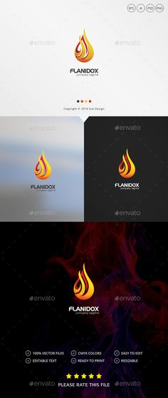 Fire Logo — Photoshop PSD #colorful #fire • Download ➝ https://graphicriver.net/item/fire-logo/19286826?ref=pxcr
