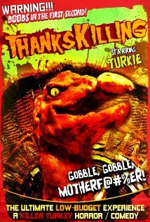 Name says it all, a turkey gets killing spree. Watch Thankskilling, nuff said. Horror Movies Funny, Horror Movie Posters, Horror Films, Scary Movies, Horror Art, Film Posters, Movie Covers, Movie Titles, Movie Quotes