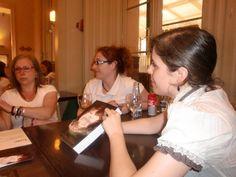 Con Eva García Carrión, Feli Ramos y Mary Luz Guillén. Librería Laie. Mayo 2015