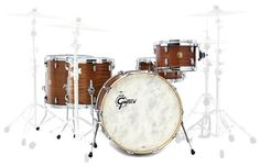 Gretsch USA Custom Series, Limited Edition Q1 '14, Rock Version, GRC-R425-RMP, colour: Ribbon Mahagony (RMP), matt satined lacuered thomann shells #gretsch #drums #thomann
