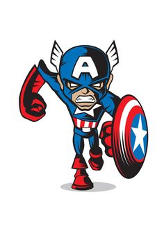 MARVEL COMICS MINIS by Chad Woodward, via Behance