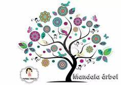 mandala en vinilo deco What Is Graphic Design, Wall Painting Decor, Mexican Art, Tree Art, Decoration, Folk Art, Diy Crafts, Prints, Artwork