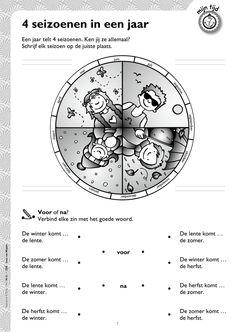 Werkblad 4 seizoenen @keireeen Speech Language Therapy, Speech And Language, Speech Therapy, Learn Dutch, Dutch Language, Calendar Time, Learning Through Play, Kids Corner, Kids Education