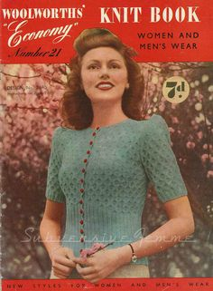 Hey, I found this really awesome Etsy listing at https://www.etsy.com/listing/105686534/cherry-blossom-wwii-era-cardigan-c-1940s