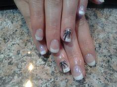Beach wedding nails!