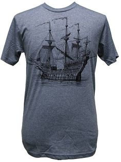 Mens Annex Clothing Galleon Ship Victorian Steampunk Tattoo Art Print T-Shirt