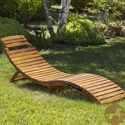 Christopher Knight Home Lahaina Wood Outdoor Chaise Lounge | Overstock.com Shopping - The Best Deals on Chaise Lounges