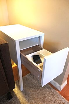 NORDLI might be a nightstand, but it's also a hideaway for chargers as there is…