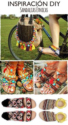 DIY sandalias boho + outfits ibiza