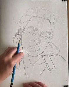 Art Drawings Sketches Simple, Girl Drawing Sketches, Pencil Art Drawings, Drawing Faces, Art Sketchbook, Aesthetic Art, Drawing People, Art Tutorials, Canvas Art