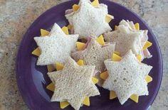 sandwiches con forma de estrellas