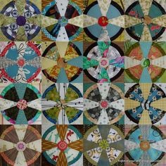 Propeller (Steampunk) quilt blocks with novelty prints.