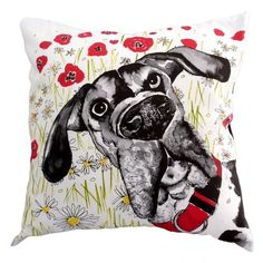 I WANT THIS!  Great Scot it's a Great Dane!! Welcome to our new partner company Sara Norwood!  This Limited Edition Cushion Cover is a must for Great Dane owners.
