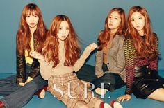 Lovelyz Sujeong, Yein, Baby Soul, Jiae - Sure Magazine
