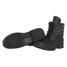 Girls' Gia-Mia Studz Convertible Boots Black 12