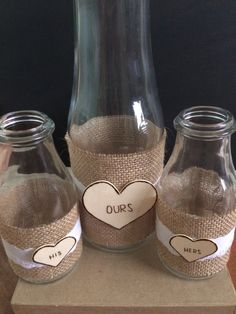 Wedding Sand Ceremony Set.    Gorgeous 3 piece set of sand ceremony jars perfect for any outdoor wedding theme or indoor. Each glass bottle is