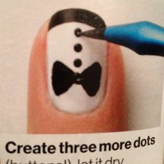 Adorable tuxedo nails
