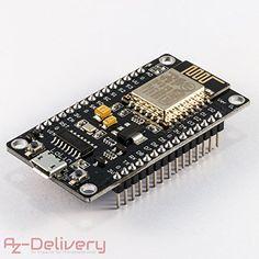 AZDelivery NodeMCU esp8266 Lolin Modulo V3 esp8266-12E/ ESP di 12E WiFi Development Board / Scheda di sviluppo con CH340 per Lua e la Arduino IDE con eBook gratuito!