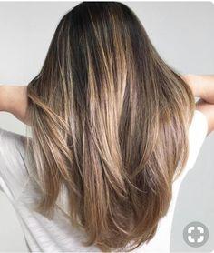 Natural blonde bayalage on dark brunette
