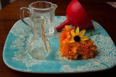 Montessori Practical Life: flower arranging for toddlers {Montessori Mischief}