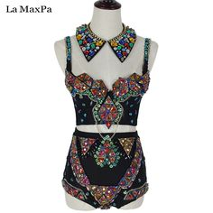 Cheap costumes for singers, Buy Quality stage costumes directly from China stage costumes for singers Suppliers: La MaxPa Sexy women stage costume female singer dj ds baroque chain patchwork performances clothes stage costume for singer