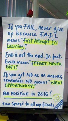 FAIL, END, NO acronyms