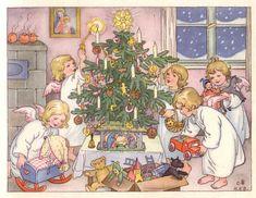 Weihnachtsengelein 1954 Hanna Helwig www.eichwaelder.de