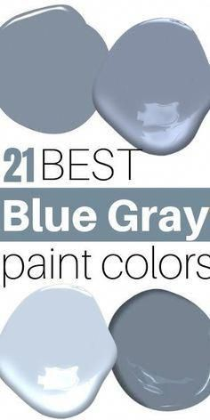Home Remodel Before And After 21 Best Blue Gray paint colors. My favorite dusty blues. Remodel Before And After 21 Best Blue Gray paint colors. My favorite dusty blues. Bluish Gray Paint, Blue Gray Paint Colors, Blue Gray Walls, Blue Gray Bedroom, Neutral Paint, Grey Blue Paints, Blue Gray Bathrooms, Colors For Bathrooms, Nautical Paint Colors