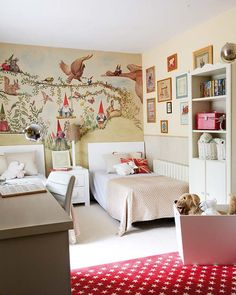 Gnome land dreams - love the wall mural kids room!