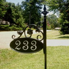 Park Ave Yard Sign on 32 Post by 911AddressSigns on Etsy