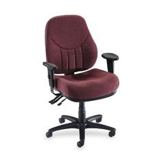 Lorell Baily High-Back Multi-Task Chair - at - 0153 - Your Online Office Furn Mesh Office Chair, Home Office Chairs, Home Office Furniture, Office Desk, Chair Upholstery, Upholstered Dining Chairs, Desk Chairs, Wooden Chairs, High Back Chairs