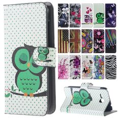 Cute Cartoon Cat Owl Leather Cover for Samsung Galaxy J5 J500 Case Flip Cover for SM J 5 Case Wallet Card holder Phone Accessory
