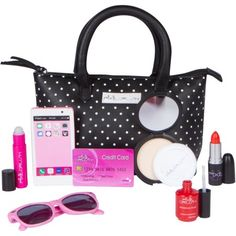 PixieCrush Pretend Play Makeup Purse Kit For Girls Realistic Cosmetic Toys Lipstick Nail Polish Sunglasses & More Improve Imagination & Creativity Build Emotional & Social Skills Little Girl Makeup Kit, Little Girl Toys, Toys For Girls, Barbie Doll Set, Barbie Toys, One Year Old Gift Ideas, Baby Doll Furniture, Kids Purse, Woodworking For Kids
