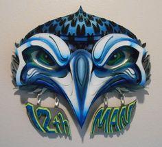 Seahawk 12th Man Wall Art by AndMedesign on Etsy
