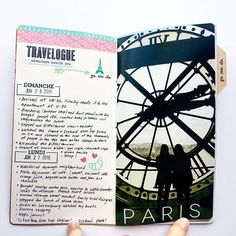 WEBSTA @ dneilg - I'm enlarging a few of my favorite photos to fill the whole page. #paristravelersnotebook #travelersnotebook