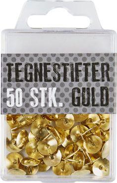 TEGNESTIFTER METAL GULD 50 STK