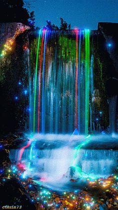 Decentes Recortes de la imagen: Neon Cascada Animación