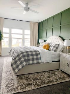 a serene and neutral master bedroom makeover with furniture from Home Depot