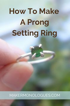 How To Make A Prong Setting Ring — Maker Monologues Wire Jewelry Rings, Wire Wrapped Jewelry, Metal Jewelry, Custom Jewelry, Gemstone Jewelry, Jewlery, Diy Jewelry, Silver Jewelry, Diy Silver Rings