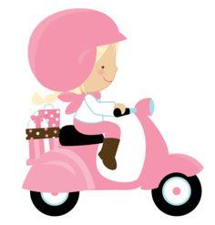Cartoon Girl Riding A Motorcycle, Cartoon Clipart, Motorcycle . People Illustration, Cute Illustration, Illustrations, Arte Pop, Motorcycle Clipart, Cute Girls, Little Girls, Clip Art, Vespa