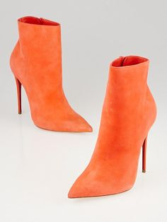 Christian Louboutin Papaye Suede So Kate Booty 120 Ankle Boots Size 4/34.5…