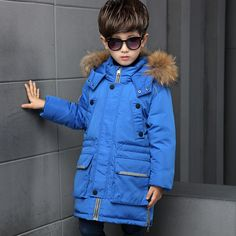 http://babyclothes.fashiongarments.biz/  Children's Long Coat Thickening Children's Down Jacket Fur Coat Snow Winter Boy Warm Russian Fashion Double Placket Down Jacket, http://babyclothes.fashiongarments.biz/products/childrens-long-coat-thickening-childr
