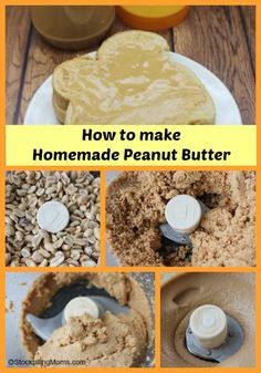 How to make homemade peanut butter (or almond butter) - this is a HUGE money saver and you can control the ingredients used! #DIY #GlutenFree #Homemade