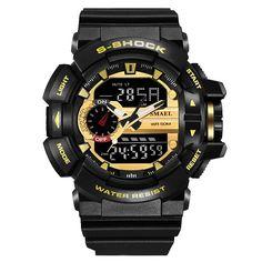 Digital Watch Men Sport Super Cool Men's G Shock Quartz Sports Watches Brand Luxury Brand LED Military Waterproof Wristwatches Casual Watches, Cool Watches, Watches For Men, Wrist Watches, Men's Watches, Popular Watches, Fashion Watches, Mens Luxury Brands, Digital Wrist Watch