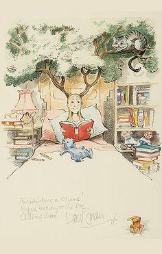 Imogene Reading in Bed - David Small