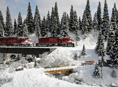 The Snow Diorama Model Railroad