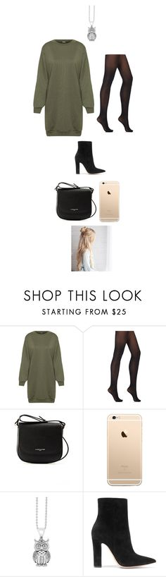 """""""Night out"""" by tiffanylechner ❤ liked on Polyvore featuring WearAll, Wolford, Lancaster, Lagos and Gianvito Rossi"""