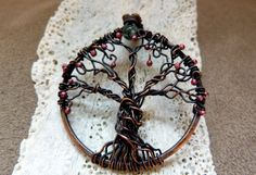 All As One  Celtic Tree of Life Wire Wrapped by SkyAndBeyond, $32.00
